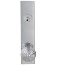 Art Deco Door Knob Entry Lockset, Omnia D12415