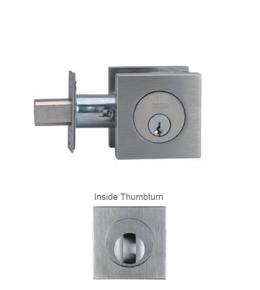 Stainless Steel Contemporary Square Deadbolt