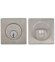 Square Stainless Steel Single Cylinder Deadbolt, Omnia D9000SA