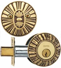 Sunburst Single Cylinder Deadbolt, Omnia REEDDB