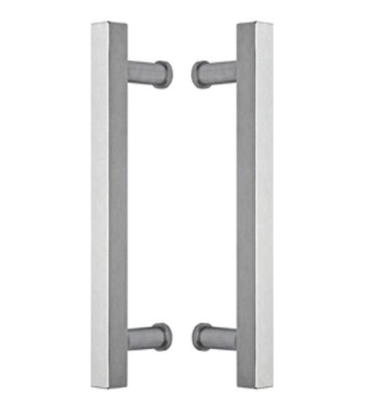 15 Square Stainless Glass Door Handles