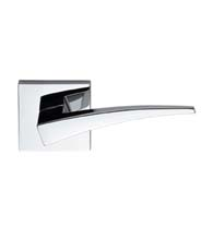 Modern Door Lever With Square Rose, Omnia 227S/00