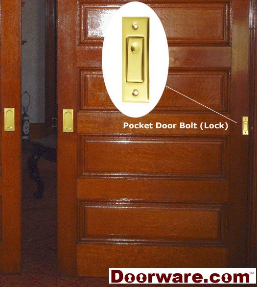 Double Pocket Door Lock