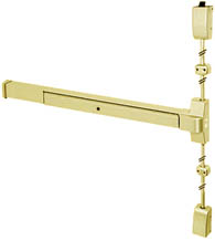 Grade 1 Polished Brass Vertical Rod Exit Device, PDQ 4200V-B605