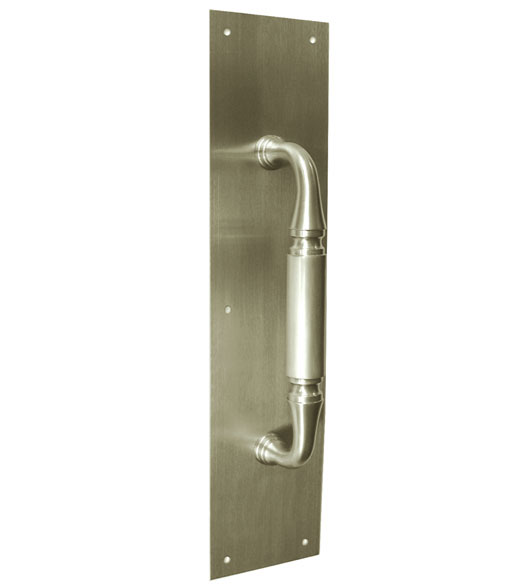 Solid Brass Pull Plate 3 1 2 X 15 With 9 Inch Handle
