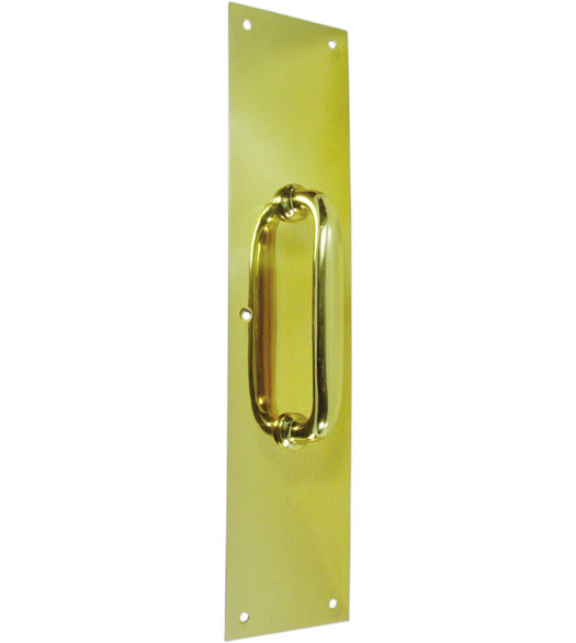 Brass Commercial Pull Plate with Handle