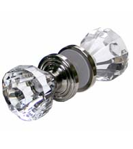 Diamond Cut Acrylic Shower Door Knob, Pair, RK International SD-CK3AC-2