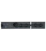 6-5/8 Inch Black Iron Square Bolt, Acorn RL9BP