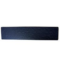 Black Rough Iron Door Kick Plate, Acorn RMxBP