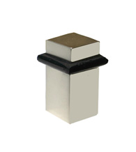 Square Modern Floor Mount Door Stop 1-5/8 Inch, Field Enterprises FEI-S-195