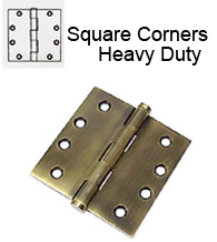 4-1/2 x 4-1/2 x Square Corners Heavy Duty Steel Hinges, Pair, Deltana S45U