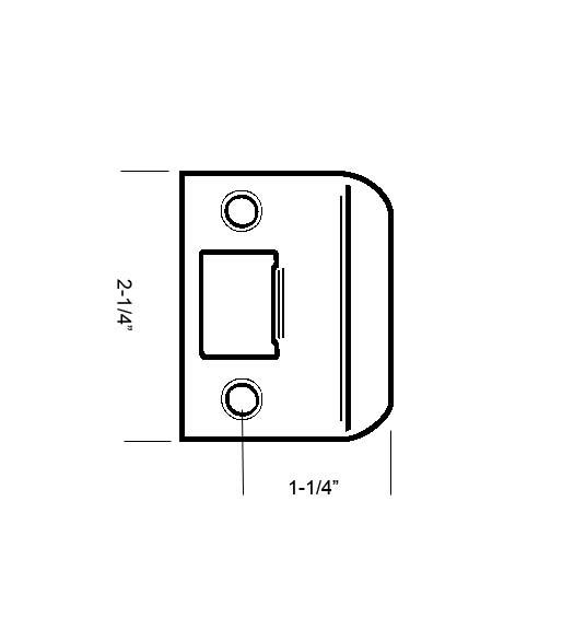 Full Lip Strike Plate Square Corners Schlage 10026