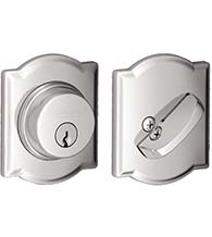 Camelot Single Cylinder Deadbolt, Schlage B60CAM