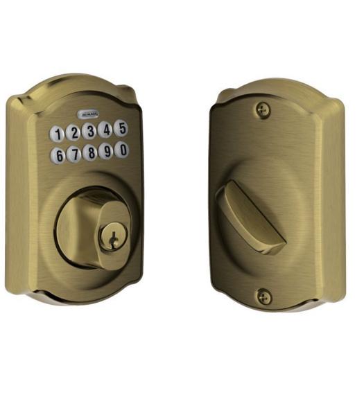 Camelot Keypad Deadbolt Schlage Be365cam Doorware Com