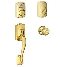Camelot Keypad Handleset With Georgian Knob