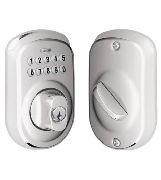 Thick Door Plymouth Keypad Deadbolt Schlage Be365ply
