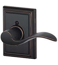 Accent Lever With Addison Rose, Schlage F-ACC-ADD