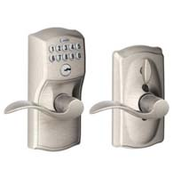 Camelot Keypad Entry Flex-Lock With Accent Lever, Schlage FE595CAMACC