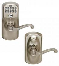 Plymouth Keypad Entry Flex-Lock With Flair Lever, Schlage FE595PLYFLA