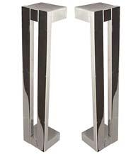 8 Inch Modern Shower Door Pulls, Pair, First Impressions FII-SD-3014-200