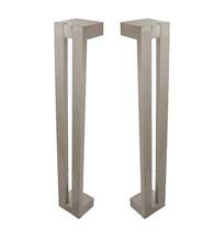 6 Inch Modern Shower Door Pulls, Pair, First Impressions FII-SD-3014-152