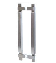 Square Stainless Steel Glass Door Pulls, Pair