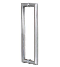 3 Foot Contemporary Glass Door Handles, Pair, Satin Stainless Steel