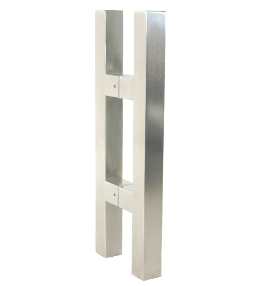 14 Square Stainless Glass Door Handles