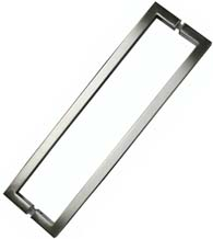 Modern 18 Inch Square Shower Door Pull, Pair, SGS SDQ-018