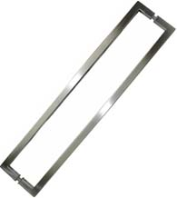 24 Inch Center to Center Square Shower Door Pull, Pair, SGS SDQ-024