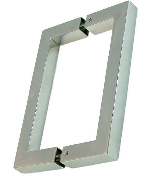 6 inch center to center square back to back pull pair sdq 600 6 inch square glass door pulls planetlyrics Choice Image