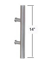 14 Inch Contemporary Stainless Steel Door Pull, AHI SIG405-355-630