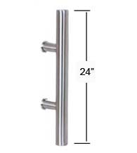 24 Inch Contemporary Stainless Steel Door Pull, AHI SIG405-610-630
