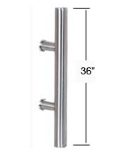 36 Inch Contemporary Stainless Steel Door Pull, AHI SIG405-914-630