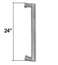 24 Inch Contemporary Stainless Steel Door Handle, AHI SIG409-610-630