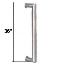 36 Inch Contemporary Stainless Steel Door Handle, AHI SIG409-914-630