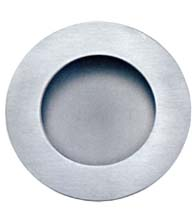 Round Satin Stainless Steel Flush Pull, AHI SIG716-630