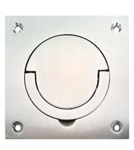 Satin Stainless Steel Contemporary Flush Mount Door Pull, AHI SIG722-630