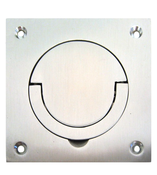 Satin Stainless Steel Contemporary Flush Mount Door Pull