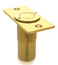 Dust Proof Solid Brass Door Bolt Strike, Deltana SPDP278