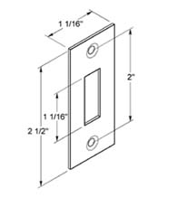 Strike Plate for Pocket Door Locks, SPSDLA325