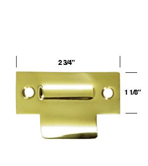 Solid Brass T Strike For Roller Catch Deltana Tsrca275