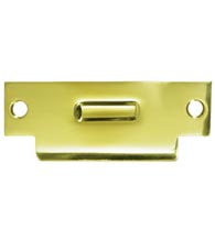 Solid Brass ANSI Strike Plate for Roller Catch, Deltana TSRCA4875