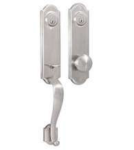 Charmant Arched Mansion Double Cylinder Handleset, Weslock 6651/6602