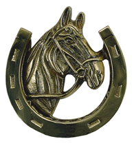 Horseshoe Door Knocker, Brass Accents A07-K5030
