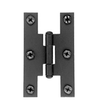 Smooth Iron 3 Inch H Cabinet Hinges, Acorn AH1BQ