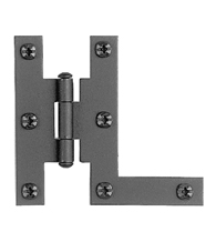 3 Inch Smooth Iron H-L Cabinet Hinges, Acorn AH3BQ