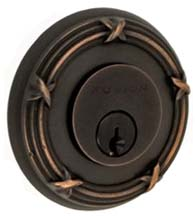 Ribbon and Reed Rose Deadbolt, Fusion B5