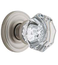 Glass Filmore Knob With Traditional Rose, Baldwin 5080