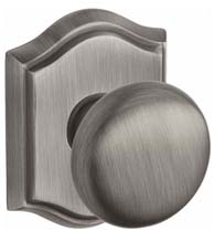 Arch Rose Door Knob Set, Baldwin ROU-TAR